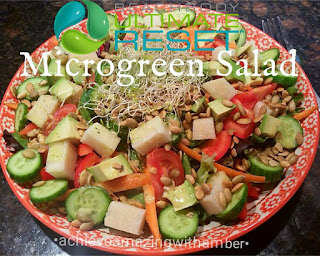 ultimate reset, tasty tuesday, microgreen salad, ultimate reset recipes, recipes, clean eating, beachbody ultimate reset recipes, summer salads, jicama recipes
