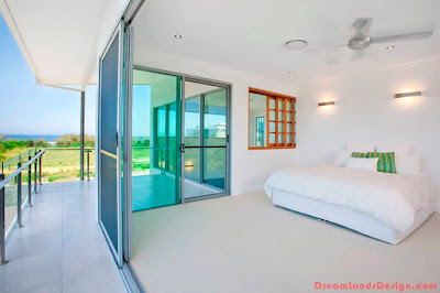 bedroom with aluminium sliding door windows