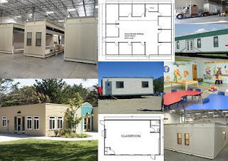 All types of modular buildings and portable classrooms.