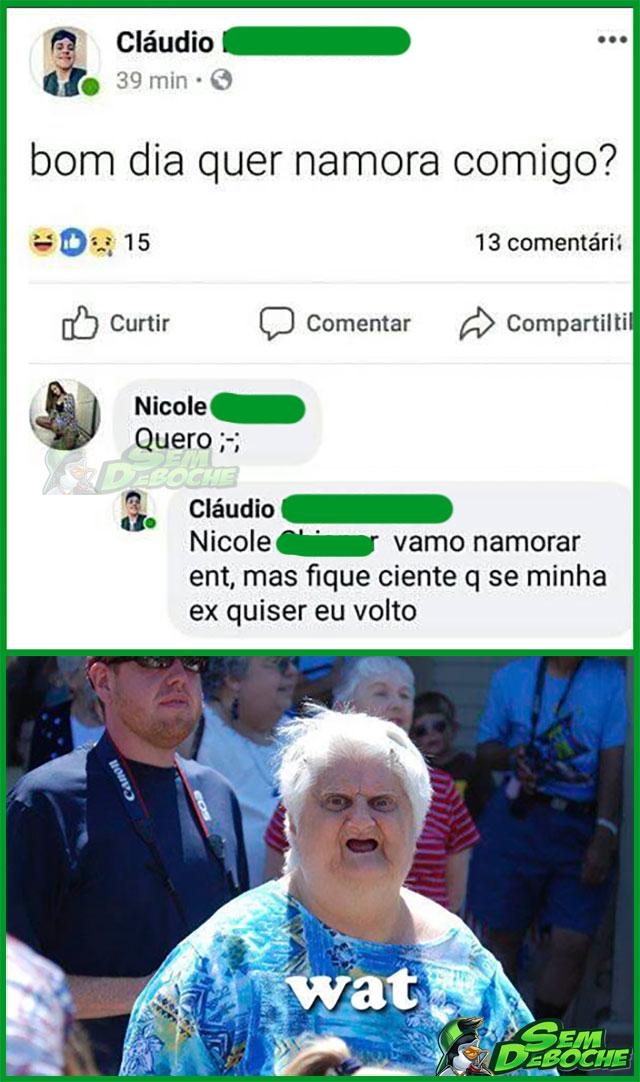 PRA NAMORAR COMIGO TEM QUE ACEITAR UMAS COISAS...