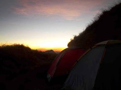 sunrise sekitar pos 3 rinjani