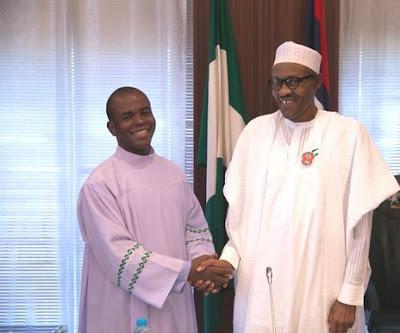 Rev. Fr. Ejike Mbaka and President Buhari