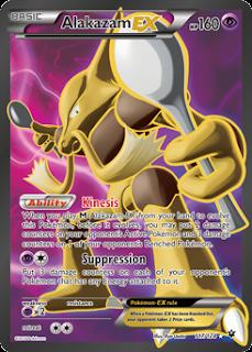 Alakazam EX Fates Collide Pokemon Card