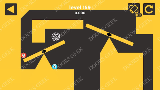 Ball & Ball Level 159 Solution, Walkthrough, Cheats for android and ios