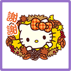 Hello Kitty's Autumn Stickers
