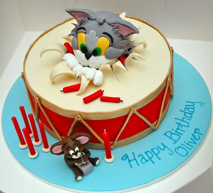 Astounding Tom And Jeery Birthday Cake Ideas Funny Birthday Cards Online Alyptdamsfinfo