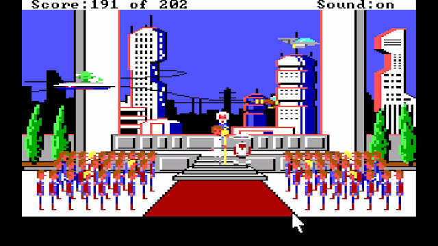 Screenshot from Space Quest I EGA version