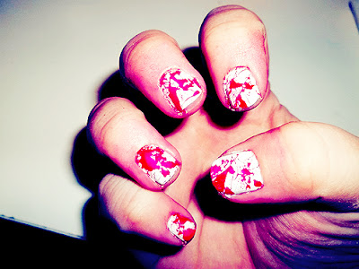 {sparkles!}: Halloween Blood Splatter Nails!