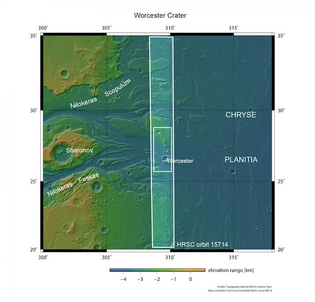 Remnants of a mega-flood on Mars