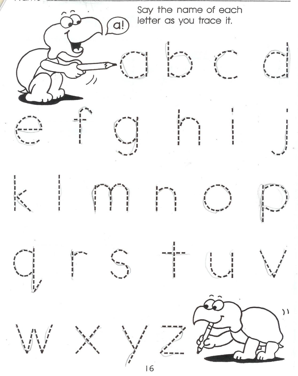 Letter Homework For Preschoolers