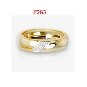 Cincin Perak emas rhodium gold