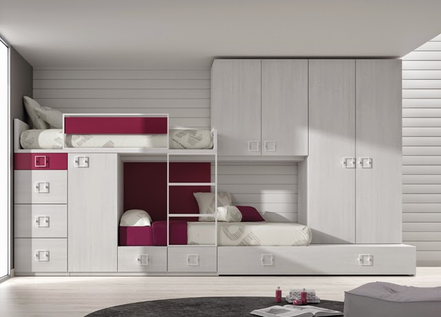 Dormitorios juveniles para dos hermanos - Habitaciones infantiles tren ...