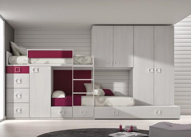 Dormitorios juveniles para dos hermanos for Cuartos para ninas con literas
