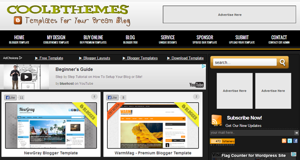 cool blogger templates