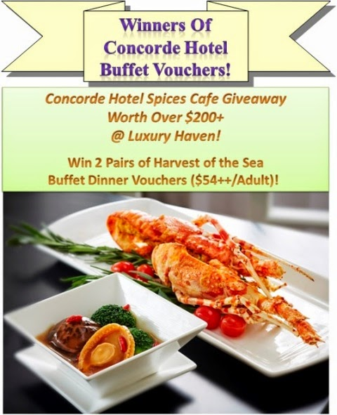 concorde hotel spices cafe seafood buffet vouchers giveaway