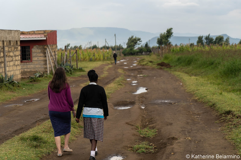 Catherine and Esther Volunteering in Kenya with Freedom Global