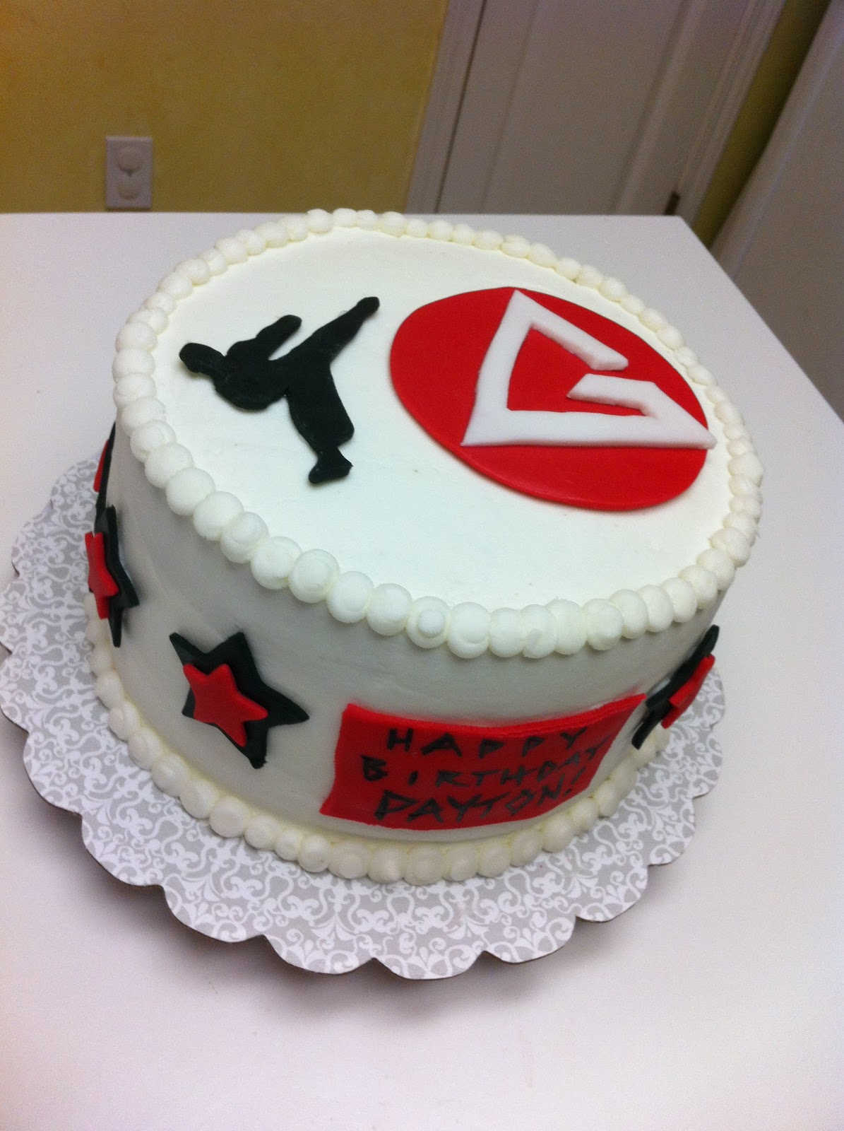 Gingerly Created Confections Jiu Jitsu Kickboxer Cake