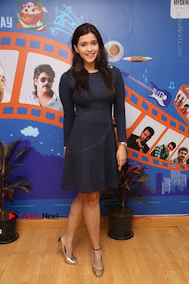 Actress Mannara Chopra Stills in Blue Short Dress at Rogue Song Launch at Radio City 91.1 FM  0088.jpg