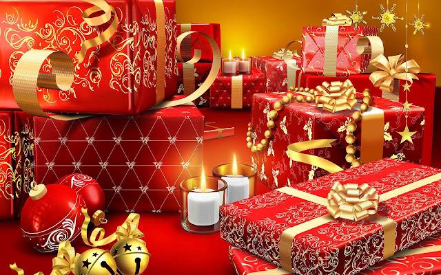 Kerst achtergrond met kerstcadeaus