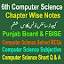 6th Class Computer Science Chapter One Notes