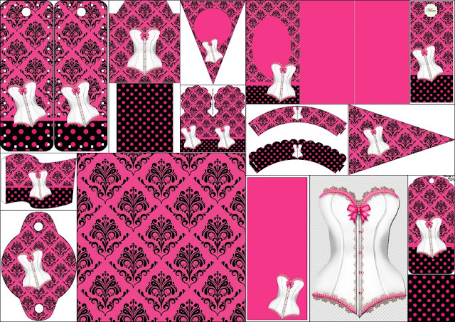 pink lingerie  free party printables