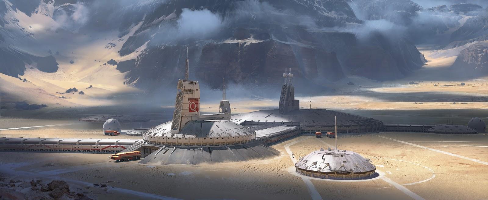 Mars colony by Erik van Helvoirt