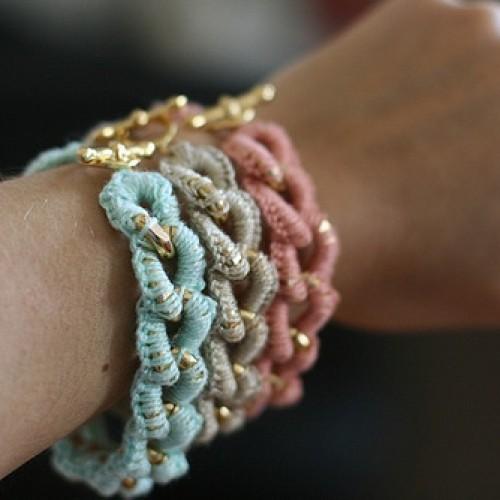 Crocheted Bracelets - Tutorial