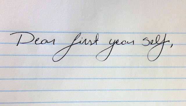 A letter to first-year me