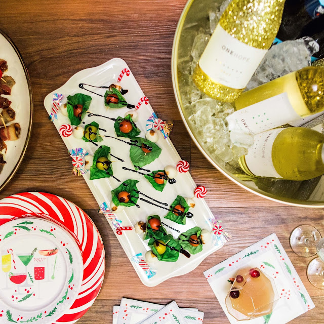 papyrus new holiday line, bacon wrapped dates, party appetizers, how to decorate for holiday party
