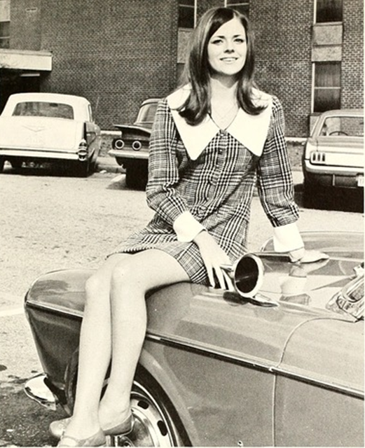 Thanks! Brilliant vintage mini car the pantyhose!