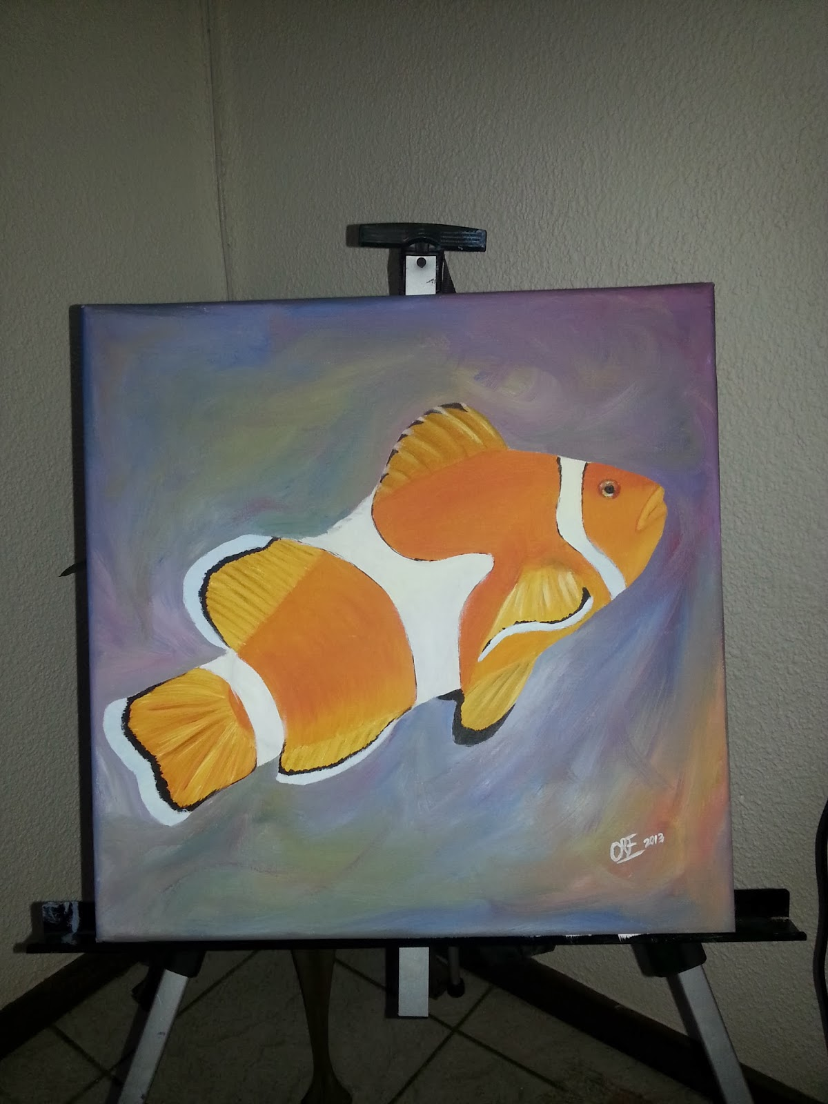 How to paint a clown fish 6 completed painting
