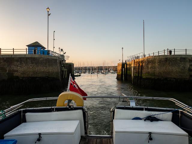 Photo of Ravensdale leaving Maryport Marina on Saturday morning
