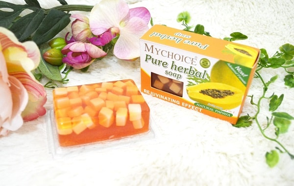 MyChoice Pure Herbal Fruity Soap with Papaya Extract review
