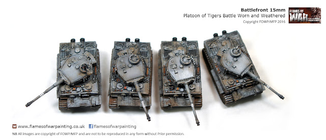 Battle Worn and Weathered Tigers 15mm Battlefront Flames of war
