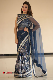 Actress Manjusha Pictures in Saree at Srirastu Subhamastu Song Launch  0240.JPG