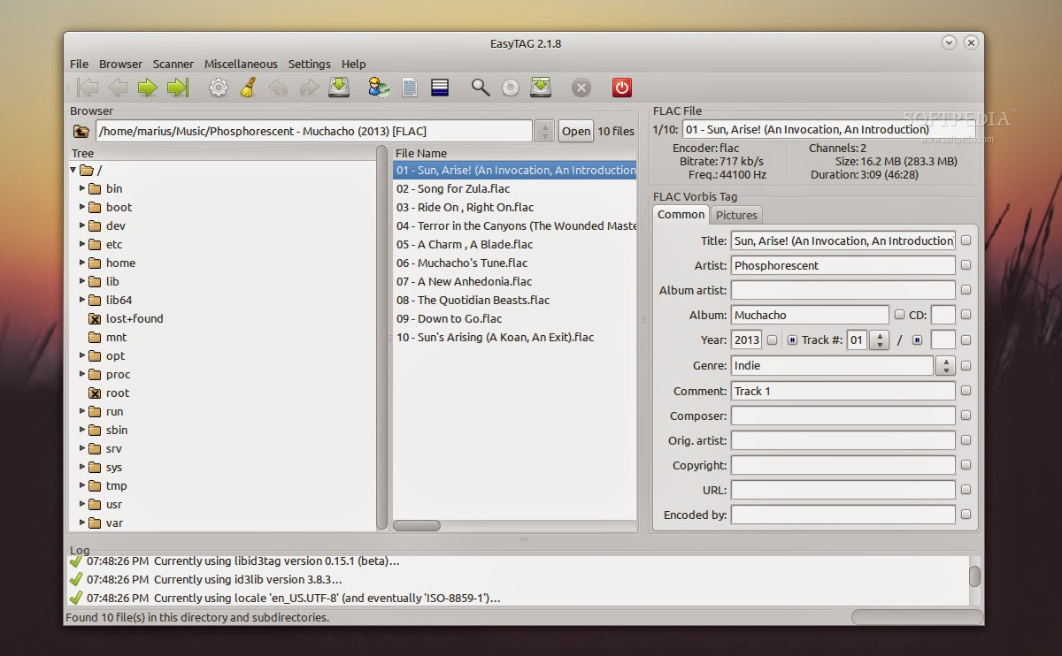 EasyTAG 2 3 2 is released, powerful tag editor software