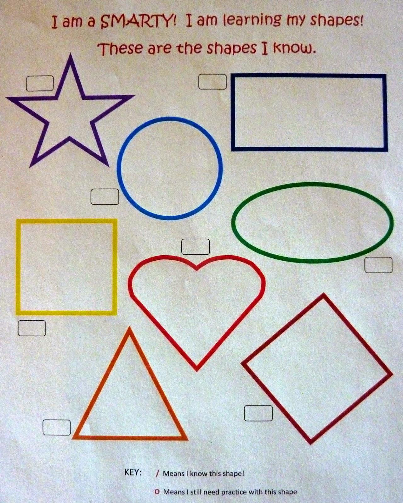 Crafts For Kids Minds Free Printable Shapes Test