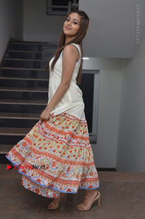 Telugu Actress Anu Emmanuel New Stills in Beautiful White Long Dress  0082.JPG