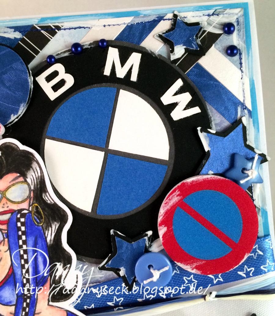 Dannys   Eck: Geburtstagskarte für einen BMW Fahrer