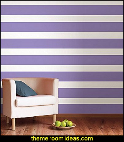 Purple Perk Stripe striped wallpaper  stripes on walls - striped decorating ideas - stripe wall decals - stripes bedding - stripes wallpaper - stripe theme baby nursery - decorating with stripes - striped rooms - painted stripes - striped walls - stripe bedding - stripe pillows - striped decorations