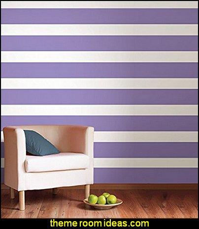 Purple Perk Stripe striped wallpaper  stripes on walls - striped decorating ideas - stripe wall decals - stripes bedding - stripes wallpaper - stripe theme baby nursery - decorating with stripes - striped rooms - painted stripes - striped walls - stripe bedding - stripe pillows - striped decorations