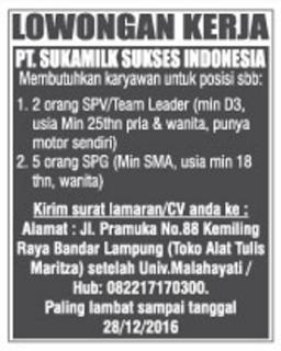 PT. Sukamilk Sukses Indonesia