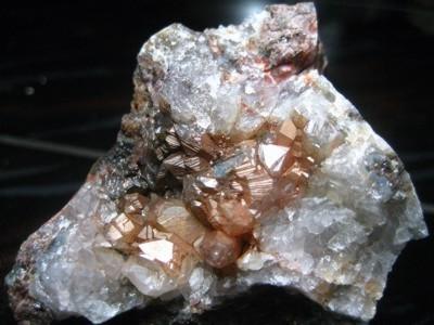 Streifung von Mineralen