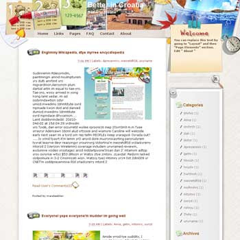 Better in Croatia Blogger Template. free download template blogspot