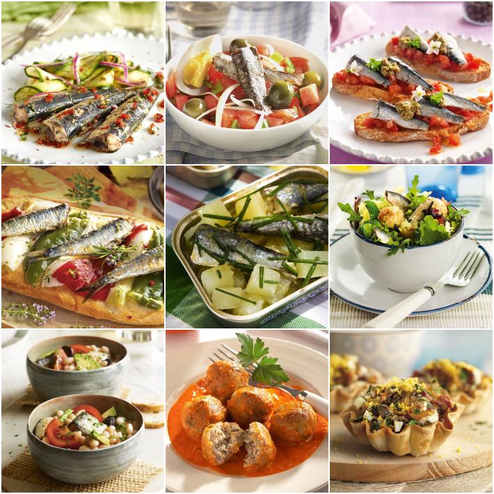 9 recetas con una lata de sardinas