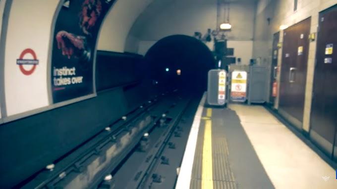 London Underground Ghost - Black Eyed Ghost