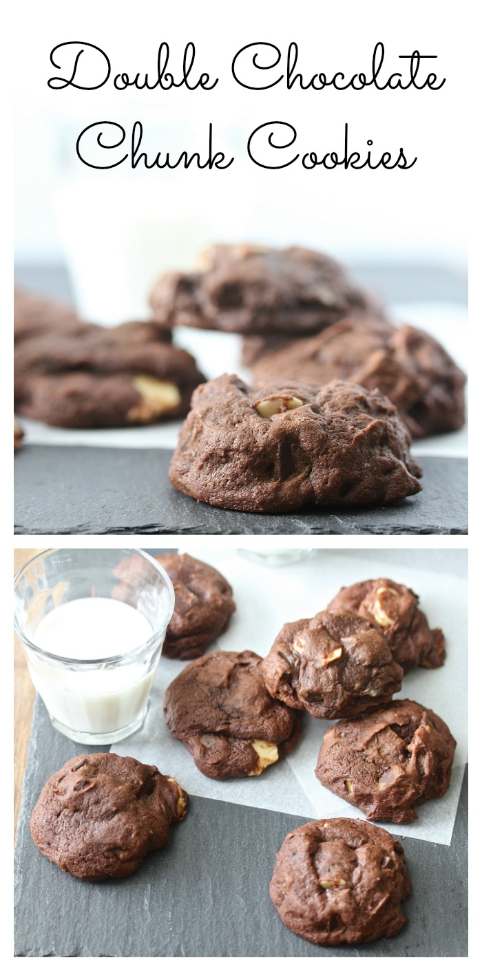 Double Chocolate Chunk and Chip Cookies