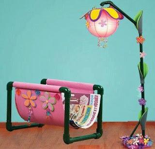 Ideas con tubos de PVC - porta revistas