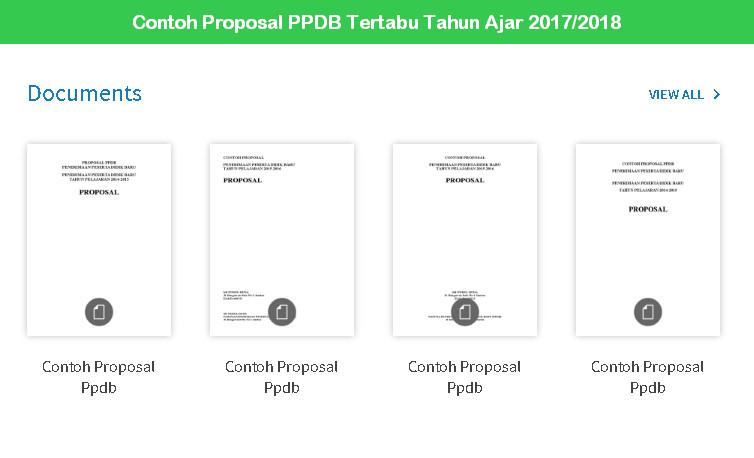 Contoh Proposal PPDB Tertabu Tahun Ajar 2017 2018