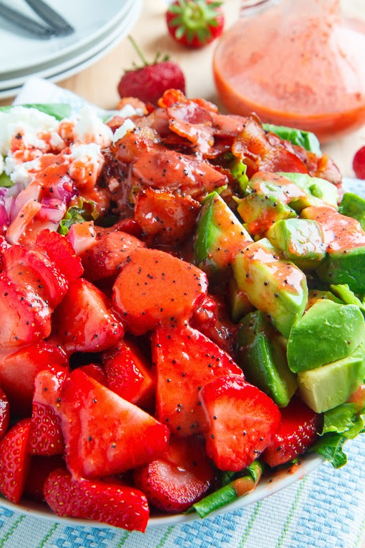 Strawberry and Avocado Salad with Strawberry Poppy Seed Vinaigrette